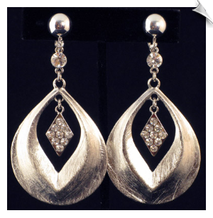 Clip On Earrings Fashion Silver