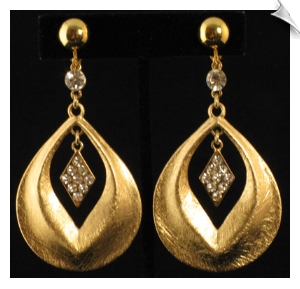 Clip On Earrings Fashion Gold