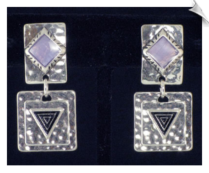 Clip On Earrings - Art Deco