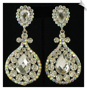 Clip On Earrings - Rhinestone Glamour