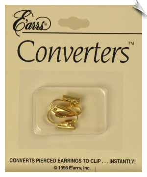 Clip On Earring - Converter Goldtone