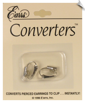 Clip On Earring Converter - Silvertone