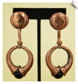 Clip On Earrings-Art Deco