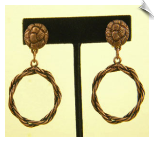 Clip On Earrings- Fashion- Gold