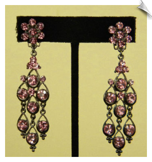 Clip On Earrings-Chandelier