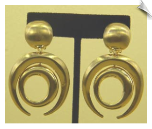 Clip On Earrings- Art Deco