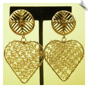 Clip On Earrings- Fashion - Gold