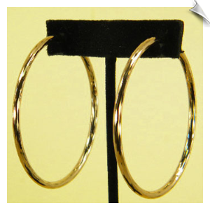 Clip On Earrings- Hoops-Gold