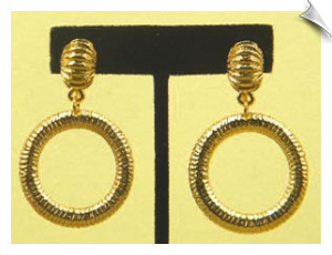 Clip On Earrings- Modern- Gold