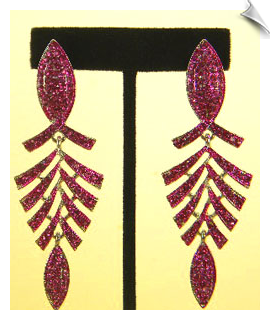 Clip On Earrings- Rhinestone Glamour