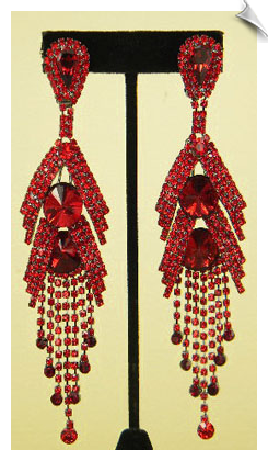 Clip On Earrings-Rhinestone Glamour