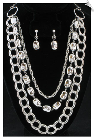 Necklace Set- Silver