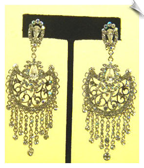 Clip On Earrings- Crystal