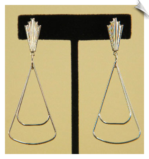Clip On Earrings-Modern-Silver