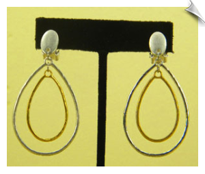 Clip On Earrings- Fashion- Silver
