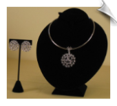 Fashion Necklace Set with Clip Earrings