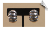 Clip On Earrings - Sterling Silver