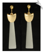 Clip Earrings - Art Deco