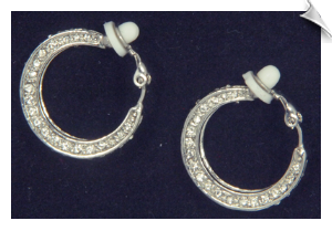 Clip On Earrings-Hoops