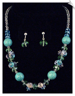 Necklace Sets-Blue
