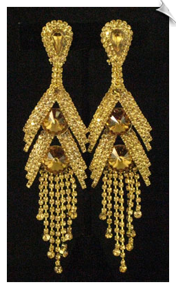 Clip On Earrings-Rhinestone Glamor