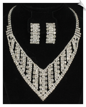 Necklace & Clip Earring Sets-GLAMOUR