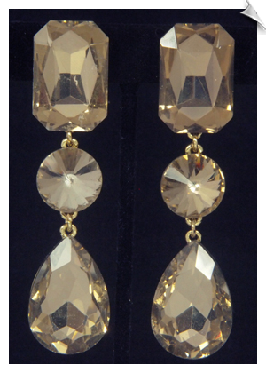 Clip Earrings - Crystal