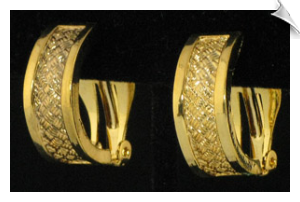 Clip On Earrings- Hoops- Gold