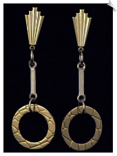 Clip On Earrings-Modern-Gold (SKU: SOL3032)