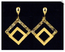 Clip On Earrings-Modern-Gold (SKU: SOL3045)