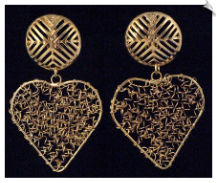 Clip On Earrings- Fashion - Gold (SKU: SOL3429)