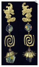 Clip On Earrings - HANDMADE (SKU: SOL3456)