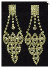 Clip On Earrings - Rhinestone Glamour (SKU: SOL3527)
