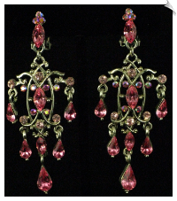 Clip On Earrings - Chandelier (SKU: SOL3541)