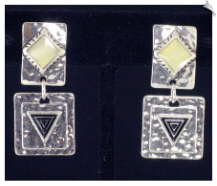 Clip On Earrings - Art Deco (SKU: SOL3975)