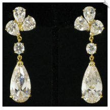 Clip On Earrings - Cubic Zirconia (SKU: SOL3980)