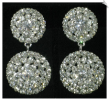 Clip On Earrings - Rhinestone Glamour (SKU: SOL4005)