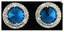 Clip On Earrings - Rhinestone Glamour (SKU: SOL4025)