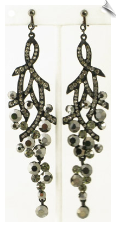 Clip On Earrings - Rhinestone Glamour (SKU: SOL4108)
