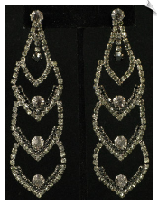 Clip On Earrings - Rhinestone Glamour (SKU: SOL4132)