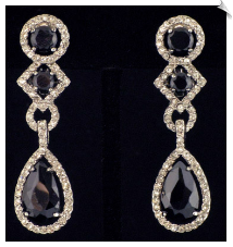 Clip On Earrings - Cubic Zirconia (SKU: SOL4145)