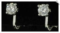 Clip On Earrings - Cubic Zirconia (SKU: SOL4276)