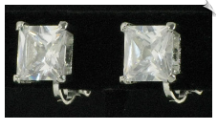 Clip On Earrings - Cubic Zirconia (SKU: SOL4278)