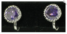 Clip On Earrings - Cubic Zirconia (SKU: SOL4302)