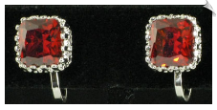 Clip On Earrings - Cubic Zirconia (SKU: SOL4303)