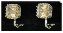 Clip On Earrings - Cubic Zirconia (SKU: SOL4305)