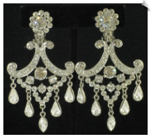 Clip On Earrings - Chandelier (SKU: SOL4449)