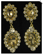 Clip On Earrings - Rhinestone Glamour (SKU: SOL4878)