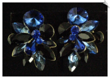 Clip On Earrings - Rhinestone Glamour (SKU: SOL4970)