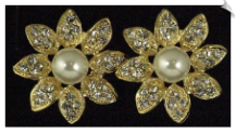 Clip On Earrings - Rhinestone Glamour (SKU: SOL4971)